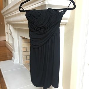 Express Dresses - Little Black strapless wrap cocktail dress